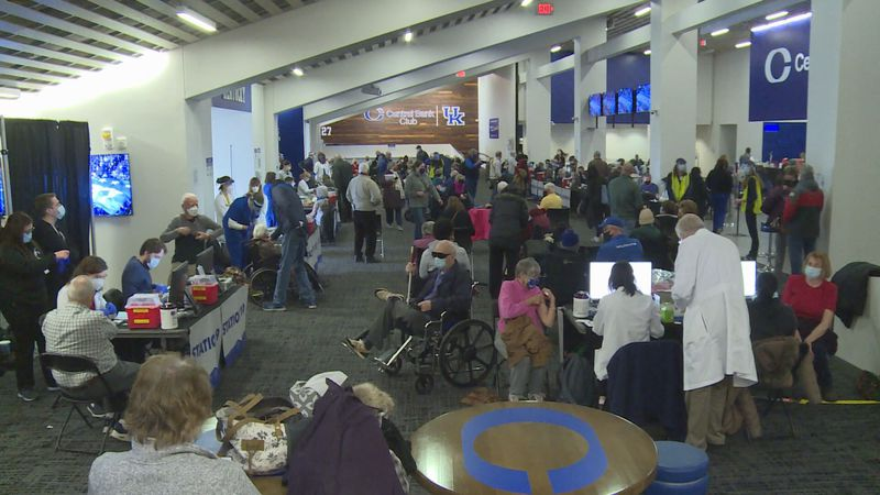 The UK vaccine clinic volunteers were able to vaccinate thousands of people Saturday.