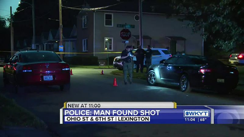 A man is in the hospital after a shooting in Lexington Wednesday night.