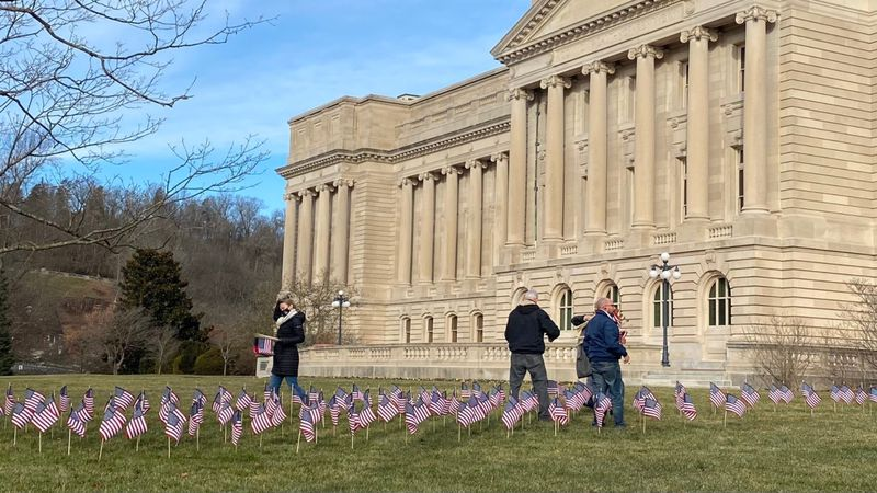 3,309 flags will go in the ground at the Kentucky Capitol in memory of the COVID-19 deaths.