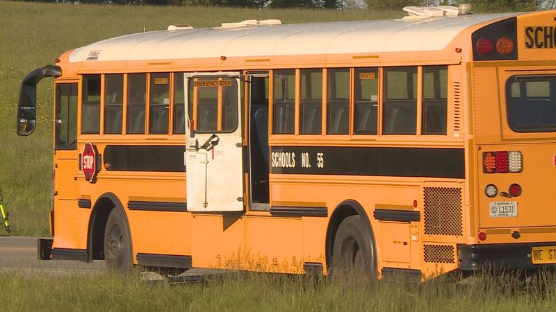 A school bus was involved in a crash in Montgomery County Friday.