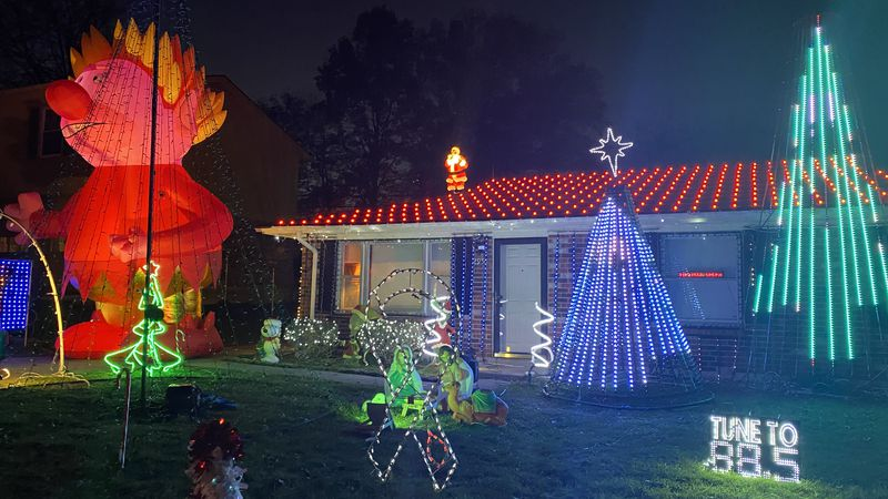 Since 2006, Matthew Smith has put on a light show to help people in need.