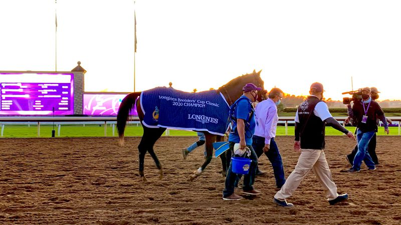 Authentic wins the Breeders' Cup Classic.