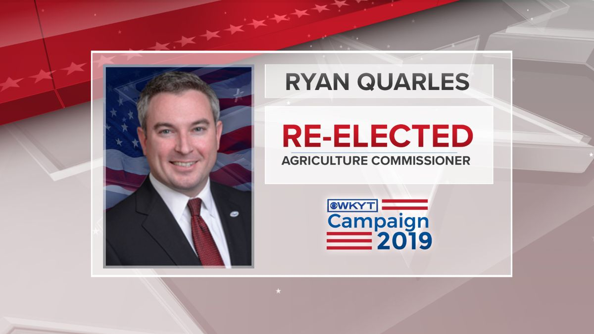 Ryan Quarles has been reelected as Agriculture Commissioner. (Photo: WKYT)