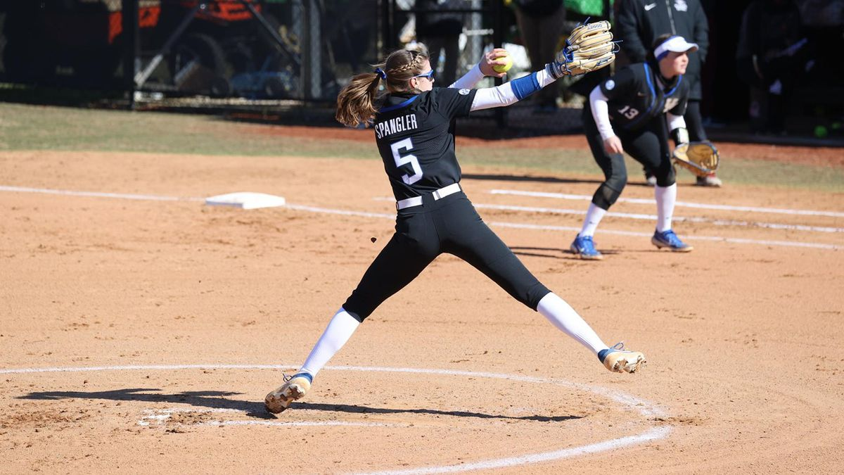 Spangler Pitches UK Softball to Best Start in Program History