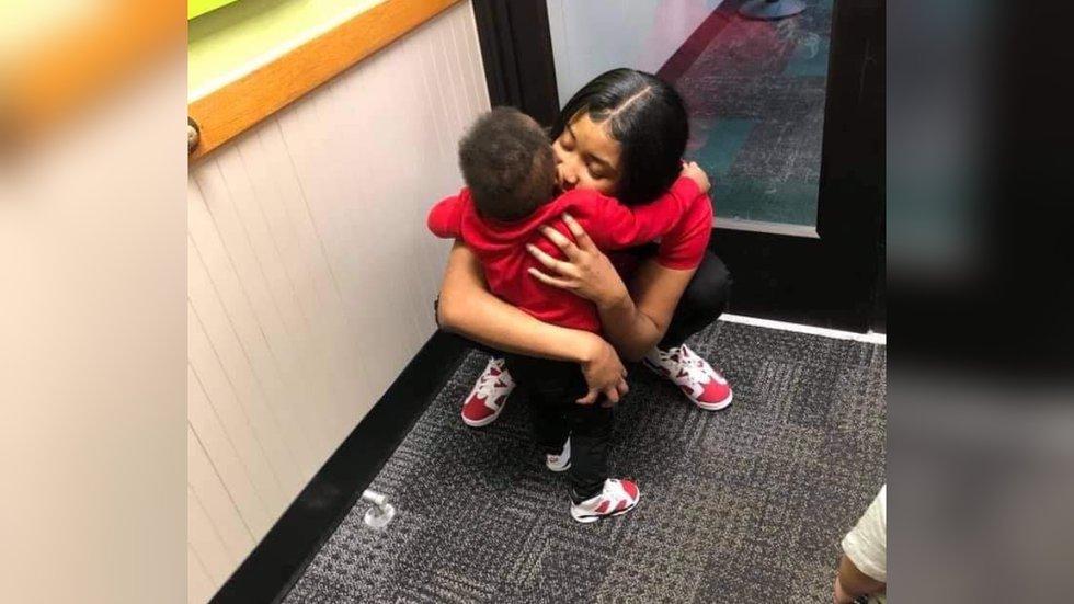Jameisha Beattie and her 2-year-old son.