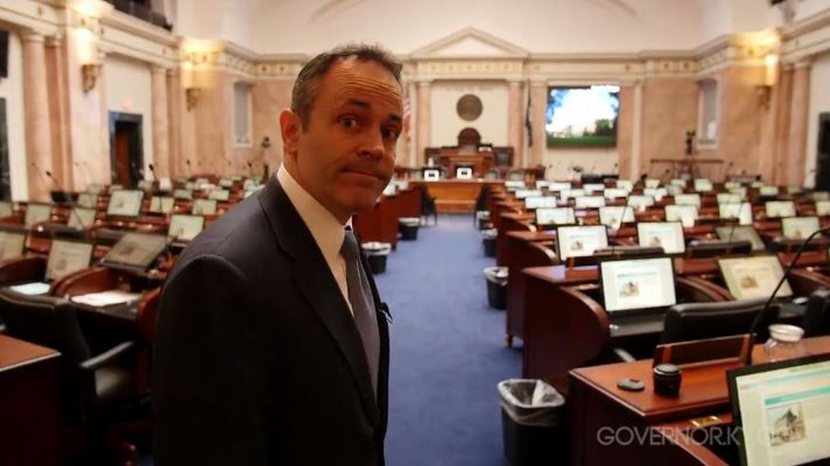 Gov. Matt Bevin released a video Monday, March 7, 2016 to push lawmakers to pass his budget. (Credit: Matt Bevin's Facebook)