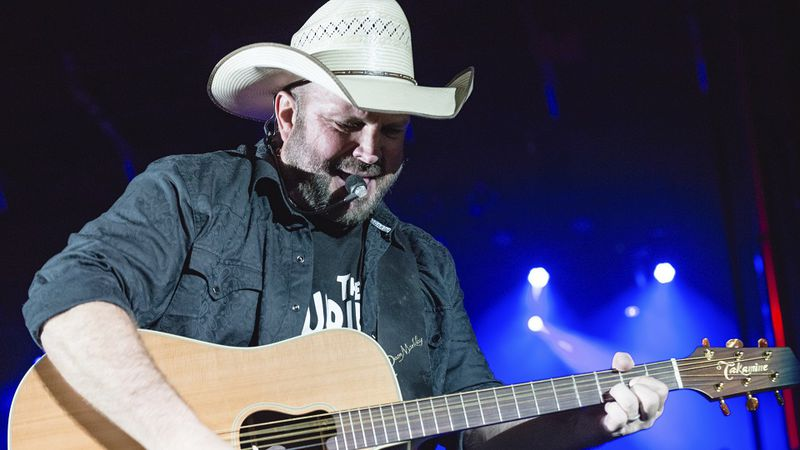 Garth Brooks performs a free concert on Auditorium Shores to help close out South By Southwest...