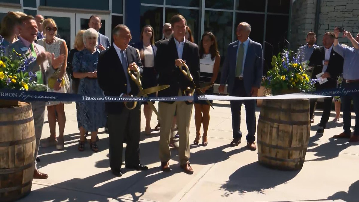 The Heaven Hill Bourbon Experience opened Monday with Governor Andy Beshear cutting the...
