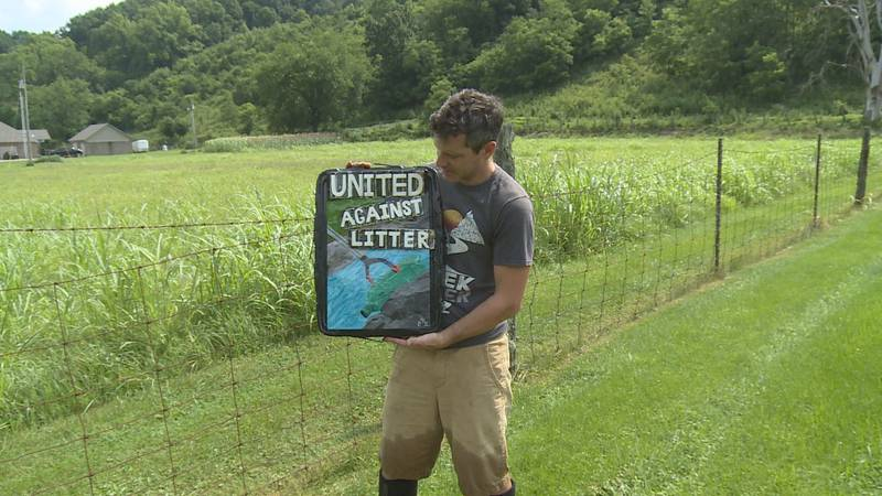 Curtis Eades is making creeks cleaner by picking up trash, and has already collected thousands...