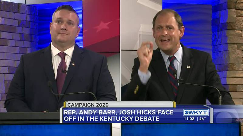 The two men vying for votes in the 6th Congressional District were hot-tempered Monday night.