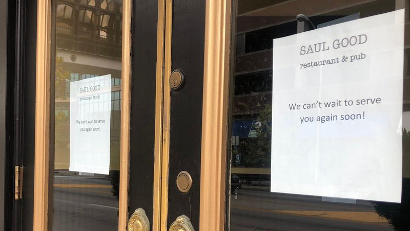 Saul Good in downtown Lexington remains closed due to the pandemic.