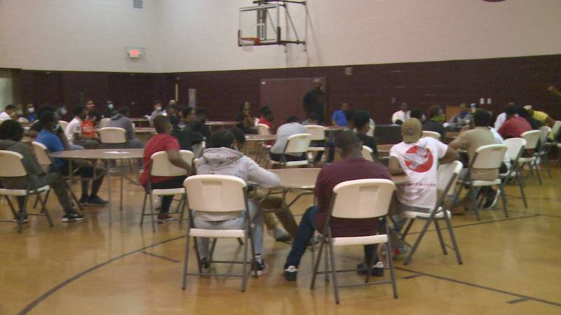 Those in the BMW Academy talk about the rise in gun violence in Lexington.