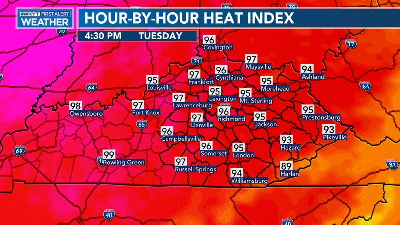 Temperatures will climb this afternoon