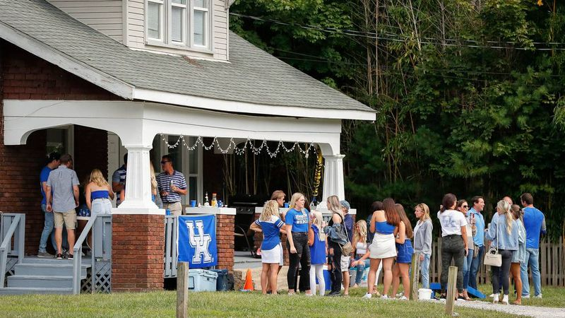 University of Kentucky students attended a party at a house on University Avenue in Lexington,...