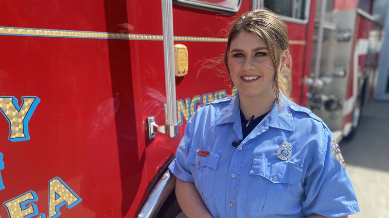 Shelby Bryant is the first female firefighter to work at the Berea Fire Department, and says...