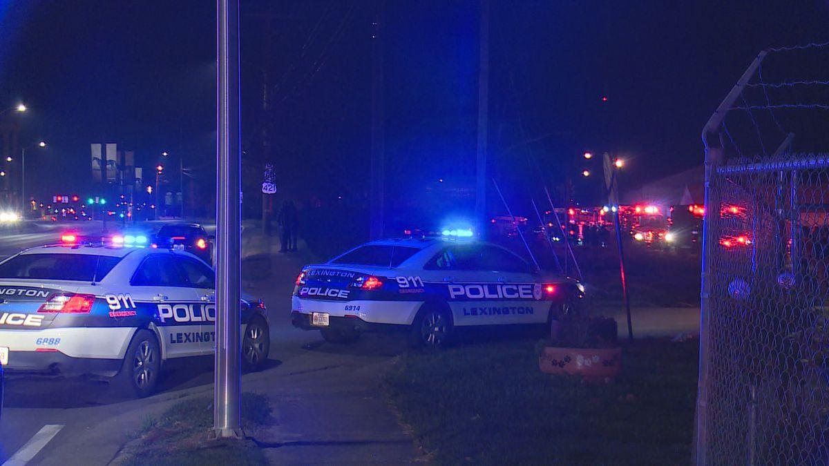 Lexington police were on the scene of a shooting Sunday morning on Payne Street.