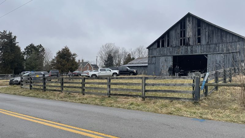 According to the coroner, a body was found in a burned vehicle Tuesday morning at a farm in the...