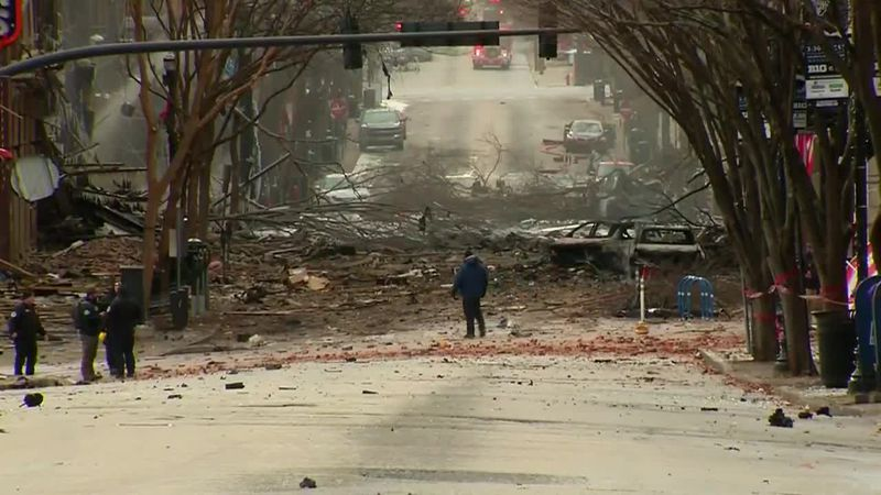 Three injured, several buildings damaged in Christmas morning explosion in historic downtown...