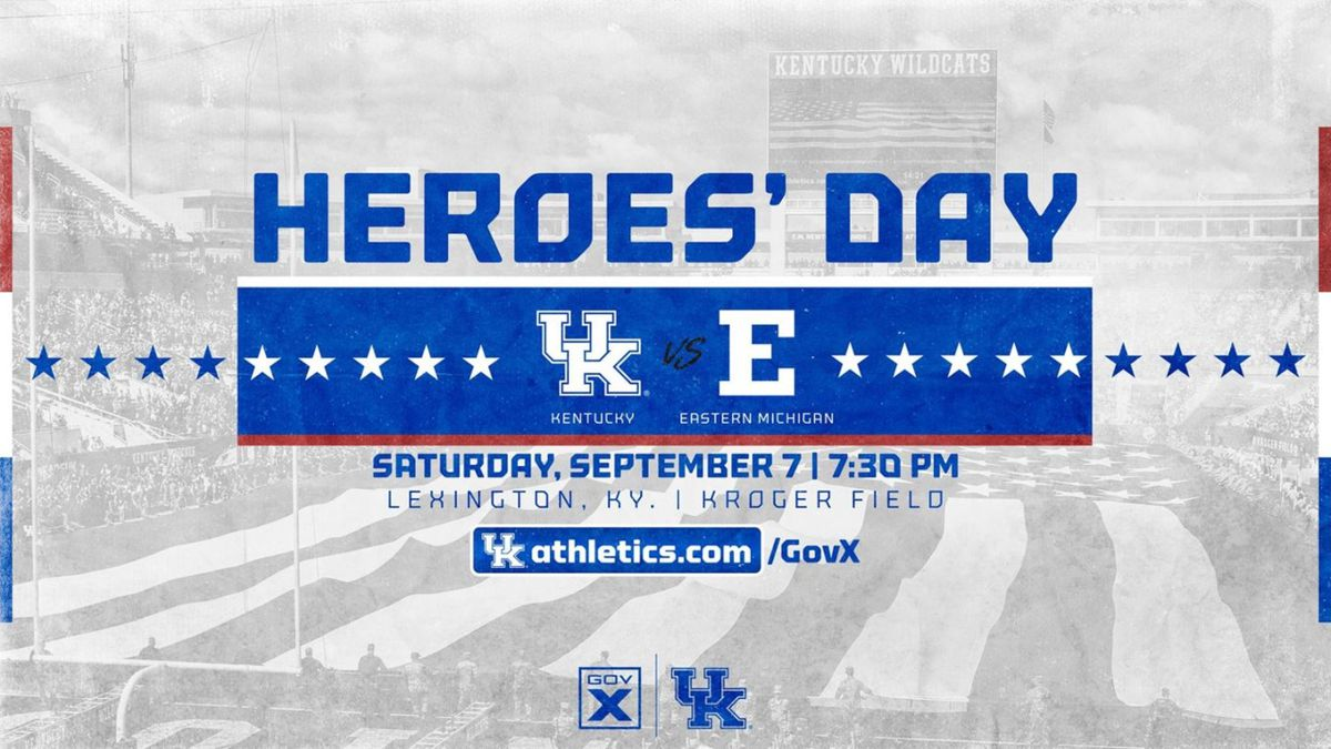 Kickoff against Eastern Michigan is 7:30 p.m.  UK plans to recognize heroes throughout the...