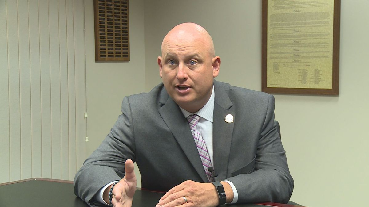 Ben Wilcox is Kentucky's school security marshal. The position was created as part of the state's school safety bill signed into law this year. (Photo by WKYT)
