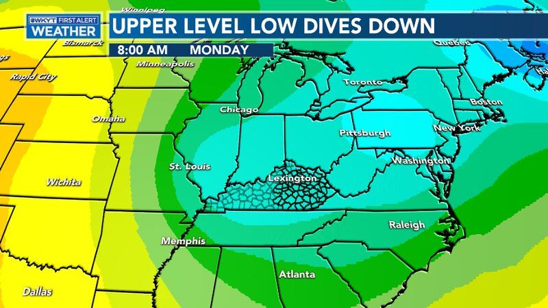 An upper-level low will dive down Sunday night and into Monday brining more chilly weather and...