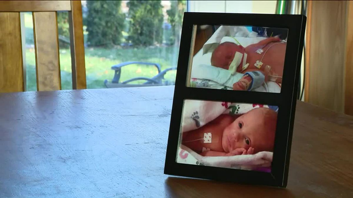 An Illinois family is devastated after they say someone broke in and stole their baby's ashes. (Source: WGN, Tribune, family photos, CNN)