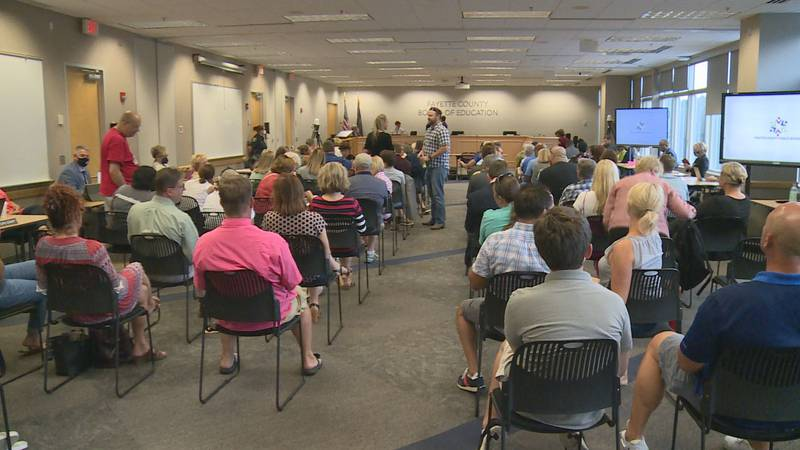 While not on the agenda for a vote, several people signed up to give their opinions on a...