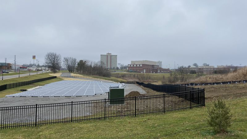 The solar farm on the corner of Kit Carson Drive and Lancaster Avenue is one of the latest...