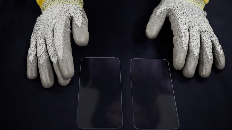 The Corning manufacturing facility makes the glass for iPhones, Apple watches and iPads.
