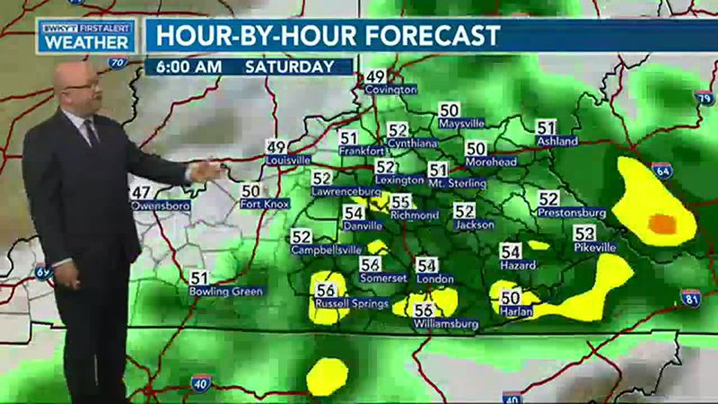 Rounds of heavy rain will roll through the region this weekend
