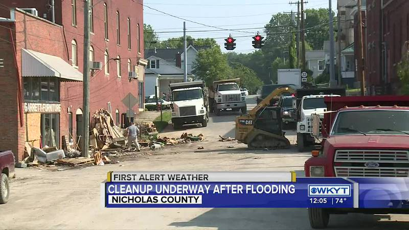 Clean-up continues after devastating flooding in Carlisle, Ky.