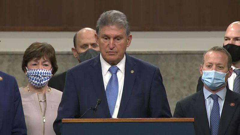 Sen. Joe Manchin of West Virginia is among a bipartisan group of senators who has put forward a...