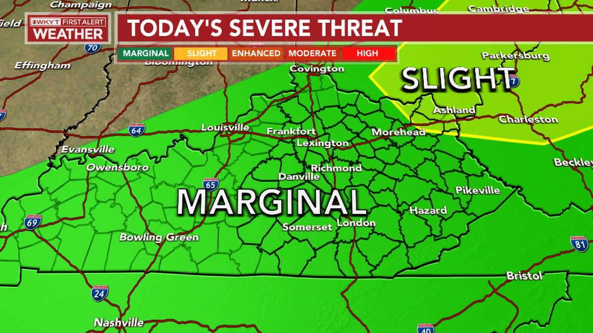 Strong to severe storms possible today