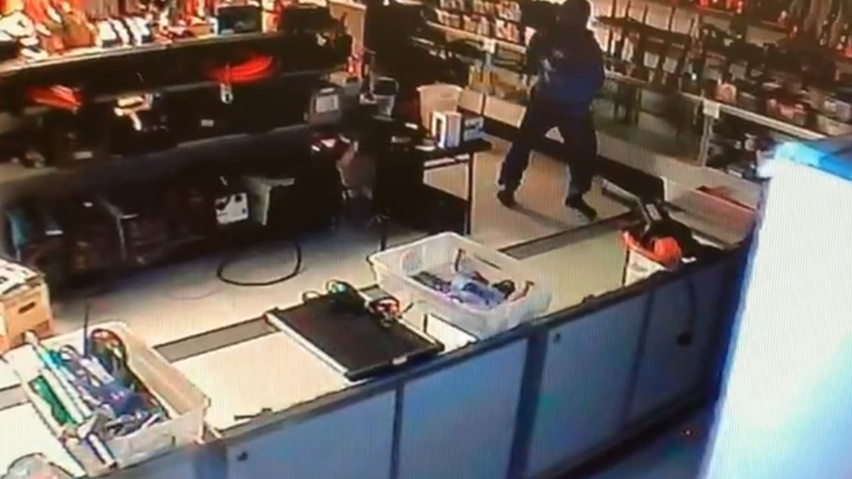 Police are searching for a man who broke into American Pawn Danville. (American Pawn Danville)
