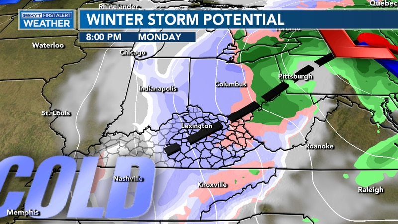 Showers turn to snow for early next week, which could lead to some accumulation for much of our...