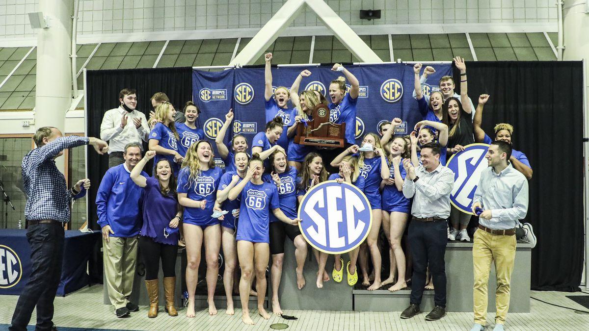 Kentucky women's swimming & diving wins the SEC crown.