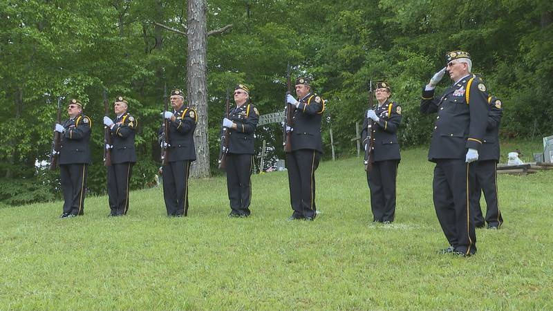 The Salyersville DAV Chapter held a graveside service for a veteran who died shortly before the...