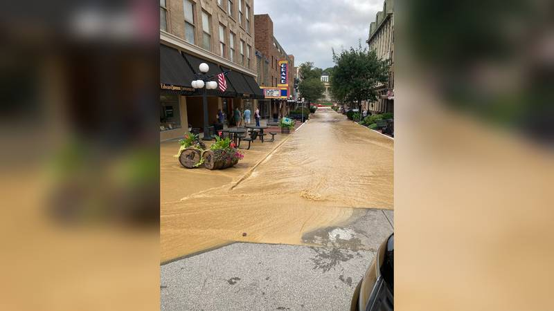The Frankfort Plant Board is working to repair a water main break at St. Clair and West Main.