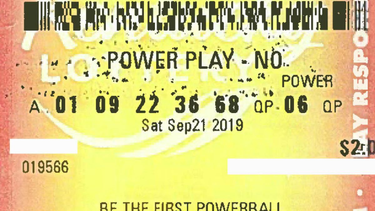The Kentucky Lottery released a photo of the $1 million Powerball ticket purchased ahead of Saturday night's drawing. (Kentucky Lottery)