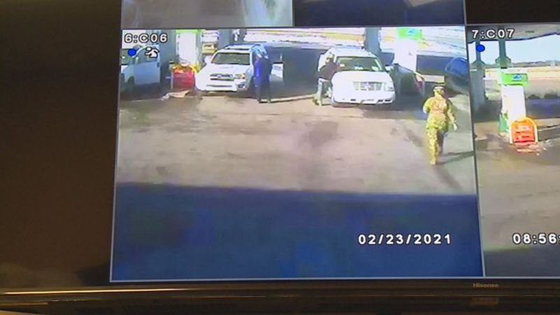 Workers at a Lexington gas station say they believe a Kentucky National Guard member saved a...