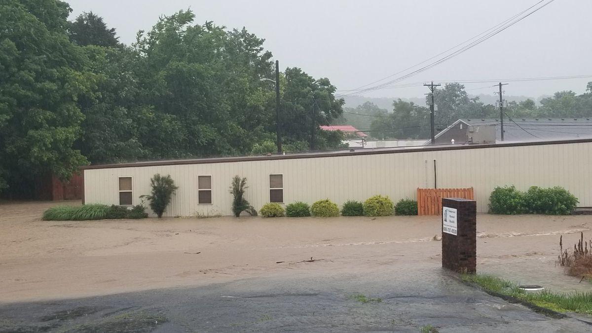 Heavy rains are causing flooding across the region.