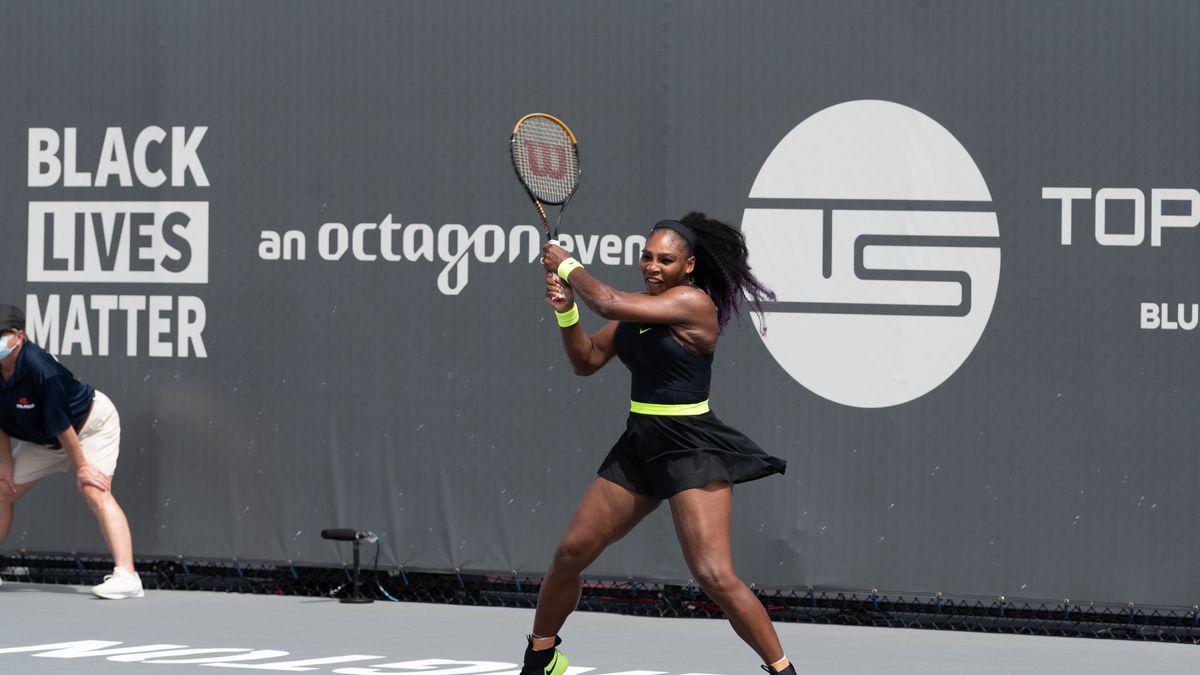 Serena Williams wins opening match at the Top Seed Tennis Open