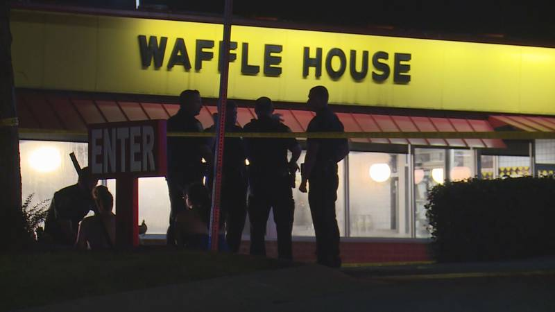 Police found 3 adults with gunshot wounds at the Waffle House on South Broadway.  One of these...