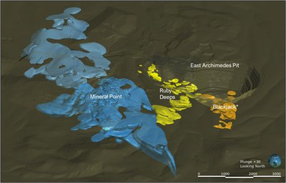 Figure 1 – Surface Plan of the Ruby Hill Deposits(*Denotes mineralized zone and not mineral...