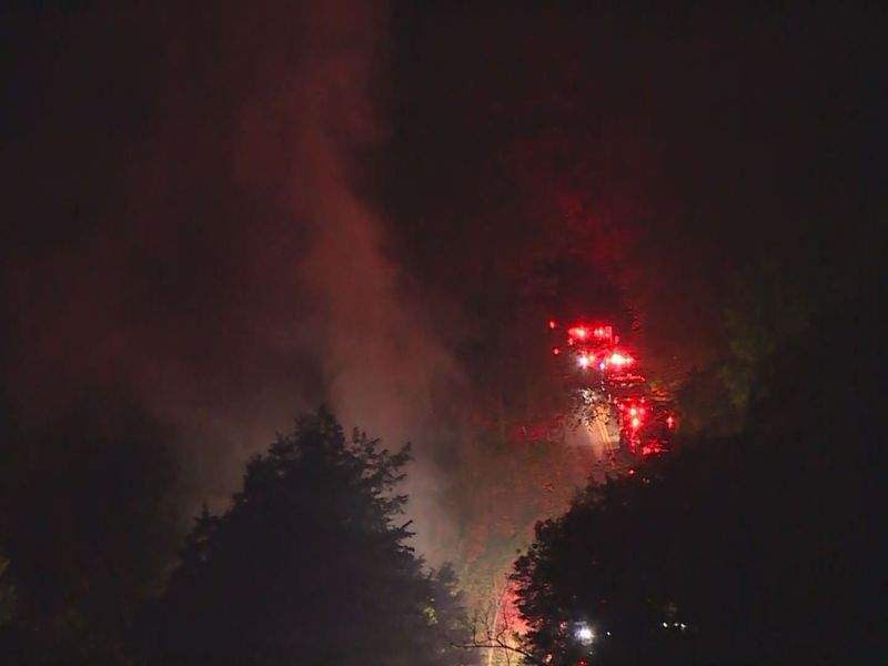 Lexington police look for missing man after fire