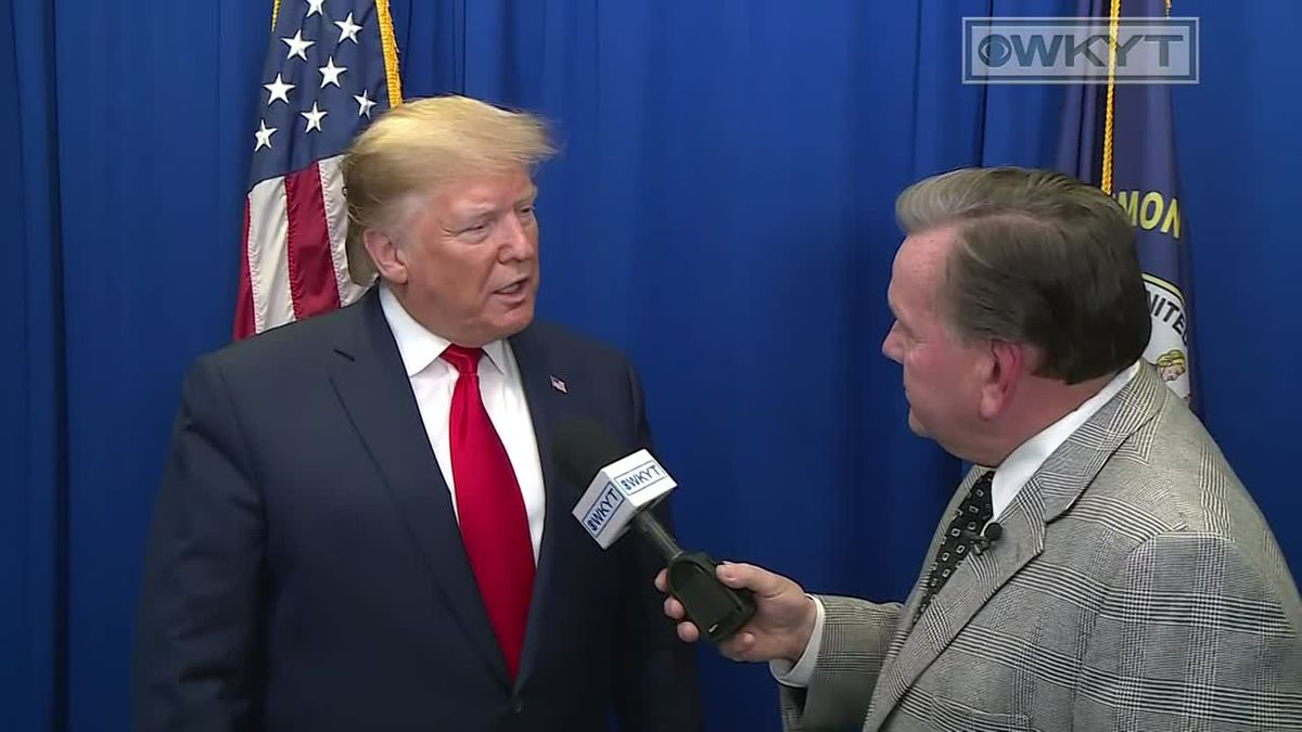 Dave Baker spoke one-on-one with President Donald Trump ahead of his Lexington rally. (WKYT)