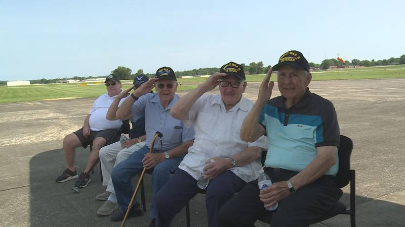 A group of World War II veterans took part in a special flight Sunday, June 20, 2021 in...