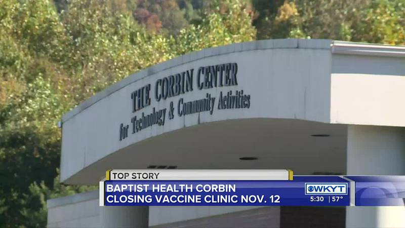 Baptist Health officials say they are closing the Corbin vaccination site due to a decline in...