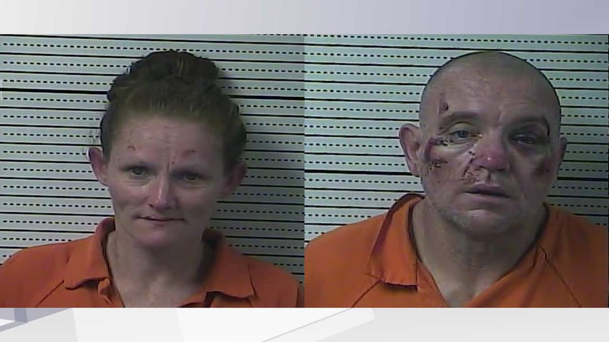 Multiple law enforcement agencies were involved in the pursuit of Jennifer Miller (l,) and Kenny Vinyard (r.) (Photos: Boyle County Detention Center)