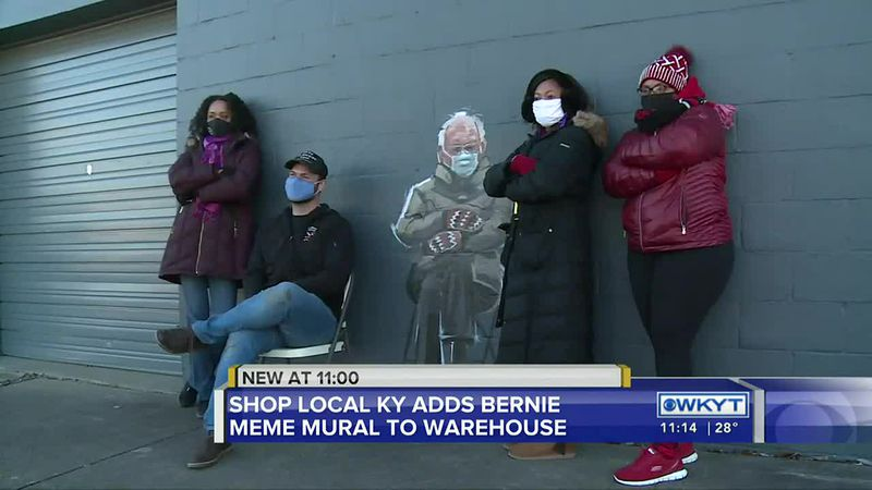 Bernie Sanders meme-inspired mural draws crowds in Lexington